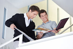 Sales representative with craftsman Stock Photography