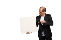 Sales Representative. A Sales Representative is presenting the latest advertising Royalty Free Stock Photography