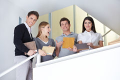 Sales representatives holding Stock Photos