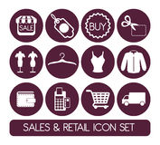 Sales and retail Stock Image