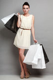 Sales, retail and woman shopping time. Stock Photography