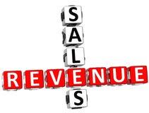 Sales Revenue Crossword Stock Image