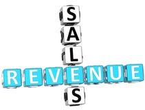 Sales Revenue Crossword Royalty Free Stock Photography