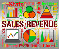 Sales Revenue Represents Profits Rebate And Save. Sales Revenue Meaning Save Earning And Wage Royalty Free Stock Photography