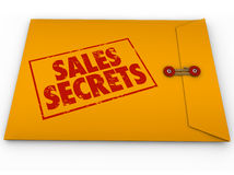 Sales Secrets Yellow Envelope How to Make a Sale royalty free illustration