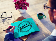 Sales Selling Discount Commerce Marketing Concept Stock Photos