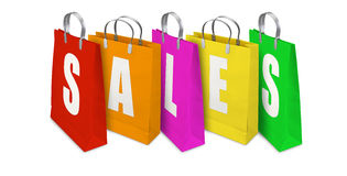 Sales Shopping Bags opened and closed Royalty Free Stock Photography