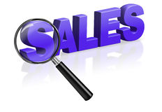 Sales shopping blue 3D button. Sales promotion or bargain shopping special offer Stock Photography