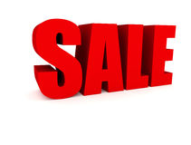 Sales sign. Big red sales sign 3d illustration Royalty Free Stock Photos