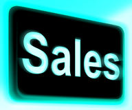 Sales Sign Shows Promotions And Deals Stock Images