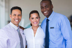 Sales staff dealership Royalty Free Stock Photo