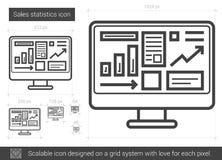 Sales statistics line icon. Royalty Free Stock Image
