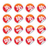 Sales sticker tag Royalty Free Stock Images