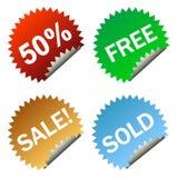 Sales sticker tag Stock Photo