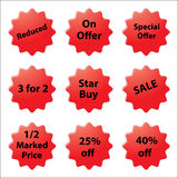 Sales Stickers Royalty Free Stock Photo