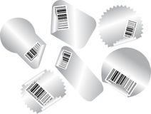 Sales stickers with bar codes Stock Photos