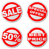 Sales stickers set Royalty Free Stock Image