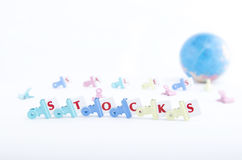 SALES AND STOCKS Stock Photo