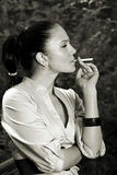 Sales Stress & smoking glamour Stock Photo