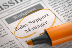Sales Support Manager Wanted. 3D. Stock Photography