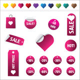 Sales Tags. Buy, Ноt, percent  and sale tags isolated on white background, vectorб isolated Royalty Free Stock Image