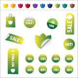 Sales Tags. Buy, Ноt, percent  and sale tags isolated on white background, vectorб isolated Royalty Free Stock Images