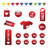 Sales Tags. Buy, Ноt, percent  and sale tags isolated on white background, vectorб isolated Stock Image