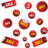 Sales Tags. Buy, Ноt, percent  and sale tags isolated on white background, vectorб isolated Stock Photo