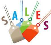 Sales tags. Empty sales tags on white background royalty free illustration