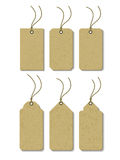 Sales Tags. Set of tags with a string and a hole for sale Stock Images