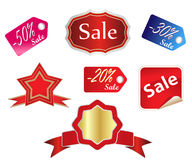 Sales tags. Illustration of colored sales tags royalty free illustration