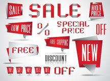 Sales Tags Complete Set Stock Images