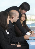 Sales talk stock image