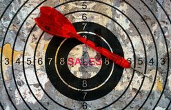Sales target concept Royalty Free Stock Image
