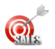 Sales target illustration design Stock Images