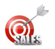 Sales target illustration design Stock Images