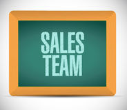 Sales team board sign concept Stock Images