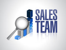 Sales team business graph illustration design Stock Image