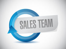 sales team cycle sign concept Royalty Free Stock Photo