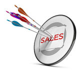 Sales Team royalty free illustration