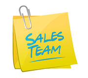 Sales team memo post sign concept Royalty Free Stock Images