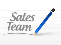 Sales team message sign concept Royalty Free Stock Photography
