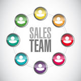 Sales team network sign concept Royalty Free Stock Image