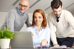 Sales team at work Stock Photography