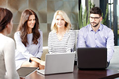 Sales team working Royalty Free Stock Images