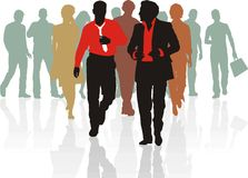 Sales team of young people. Group of young business people teamwork Royalty Free Stock Image