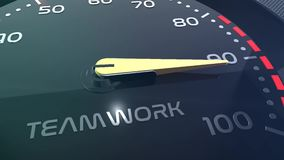 Sales, teamwork, stress, performance, success, sppedometer or indicator conceptual animation stock footage