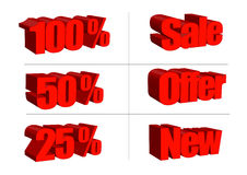 Sale text illustrations Stock Photo