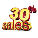 Sales Thirty percent Stock Photo