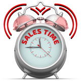 Sales time. The alarm clock with an inscription Royalty Free Stock Image